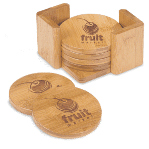 Round Bamboo 6-Coaster Set