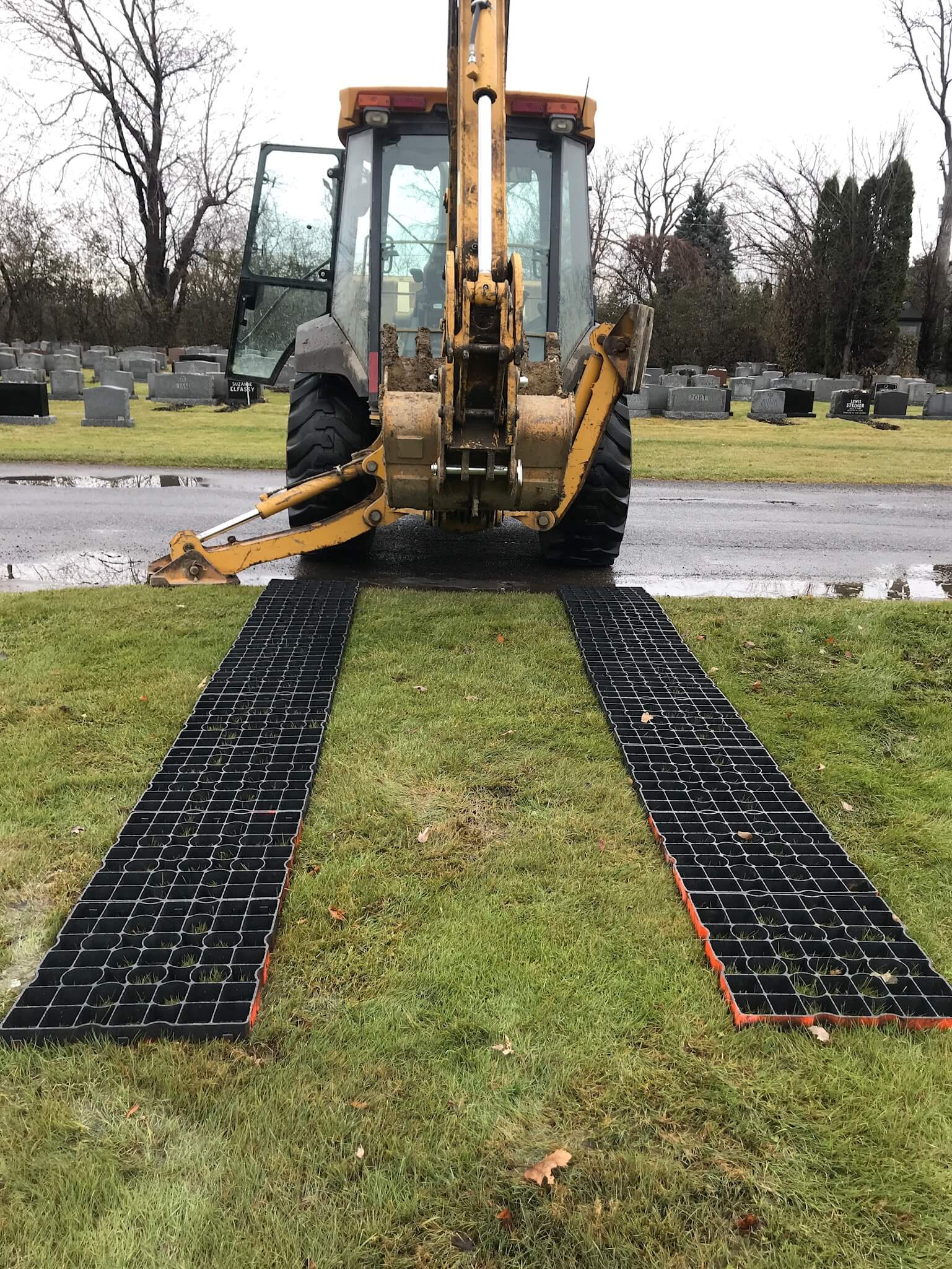RigidLawn for Permeable access roads